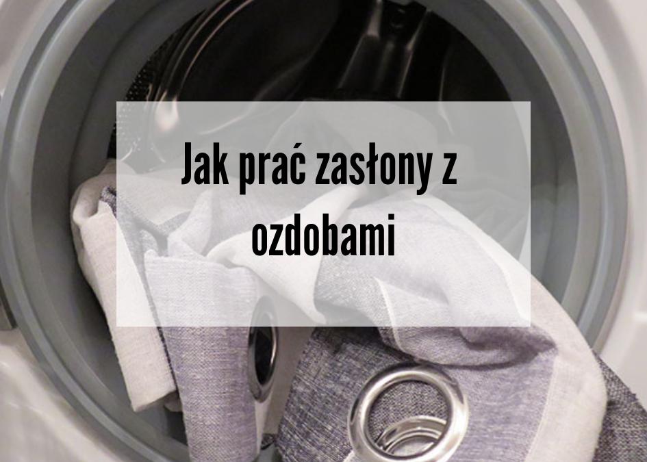 Jak prać zasłony z ozdobami
